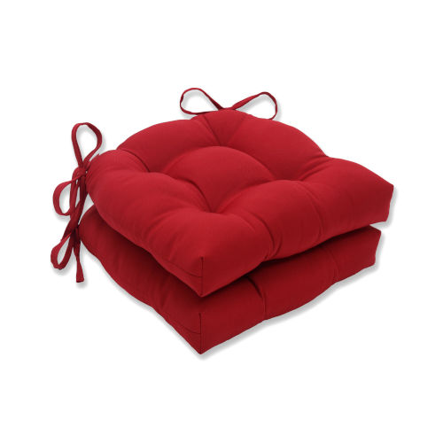Pompeii Red Large Chairpad, Set of Two
