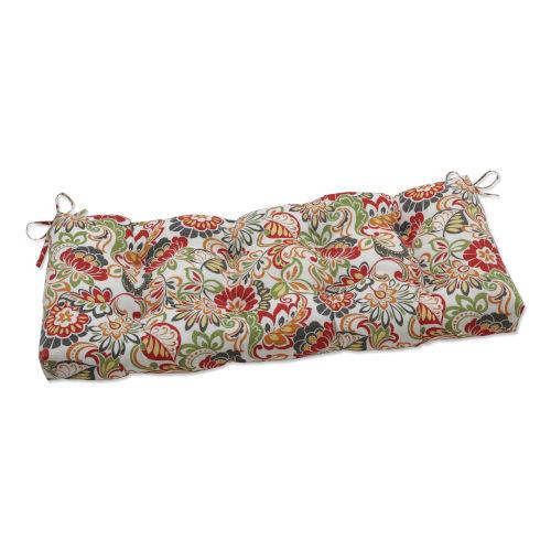 Zoe Green Red 48-Inch Bench Cushion