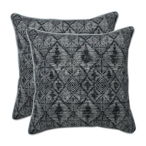 Nesco Black Tan Off-White 18-Inch Throw Pillow, Set of Two
