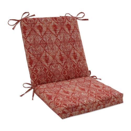 Nesco Red Orange Off-White Chair Cushion