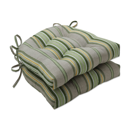 Terrace Green Natural Yellow Large Chairpad, Set of Two