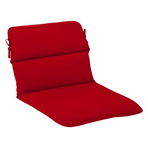 Pillow Perfect Outdoor Red Solid Chair Cushion Rounded