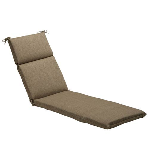 Outdoor Taupe Textured Solid Chaise Lounge Cushion