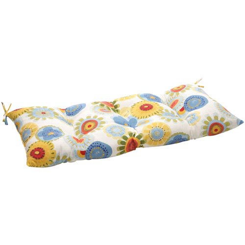 Pillow Perfect Outdoor Multicolored Floral Tufted Loveseat Cushion