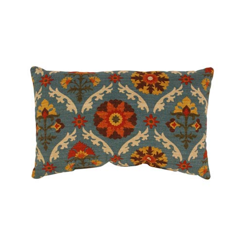 Pillow Perfect Mayan Medallion Rectangular Throw Pillow in Adobe
