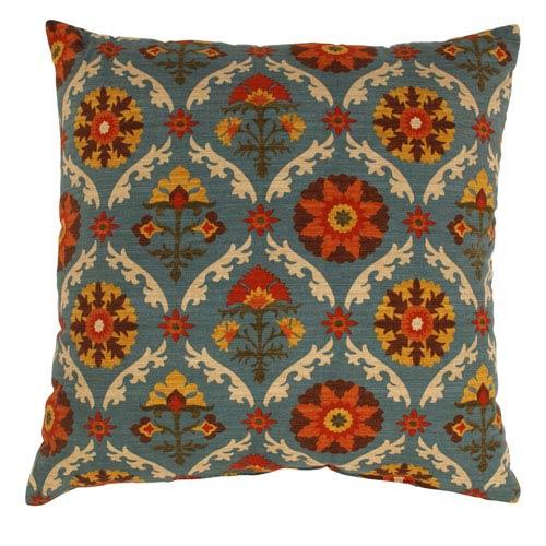 Mayan Medallion 24.5-Inch Floor Pillow in Adobe