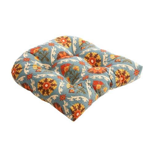 Pillow Perfect Mayan Medallion Chair Cushion in Adobe