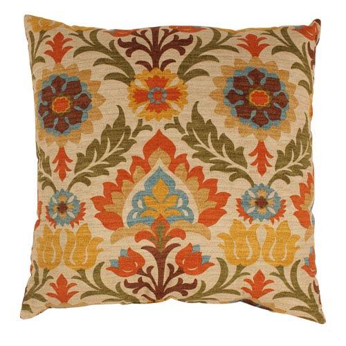 Santa Maria 24.5-Inch Floor Pillow in Adobe