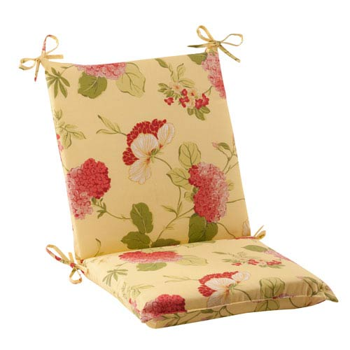 Pillow Perfect Outdoor Risa Squared Chair Cushion in Lemonade