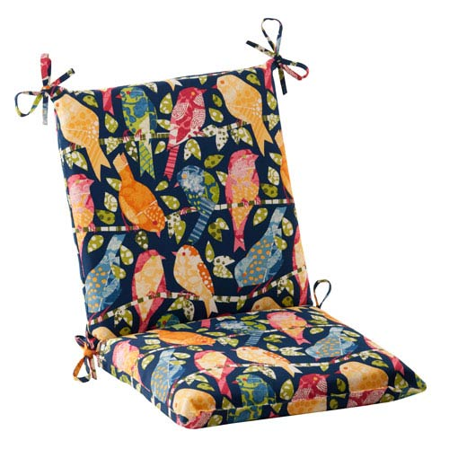 Pillow Perfect Outdoor Ash Hill Squared Chair Cushion in Navy