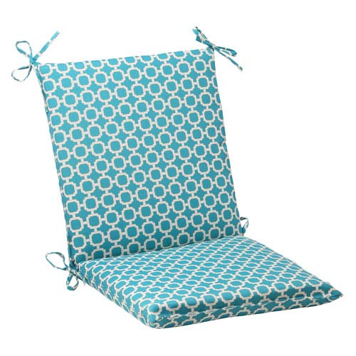 Pillow Perfect Outdoor Hockley Squared Chair Cushion in Teal