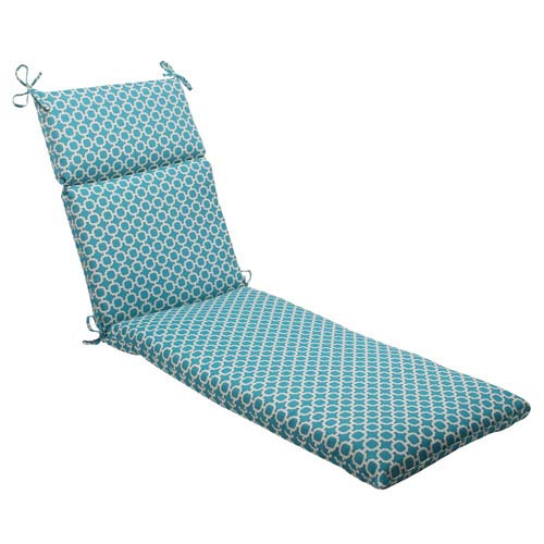 Pillow Perfect Outdoor Hockley Chaise Lounge Cushion in Teal