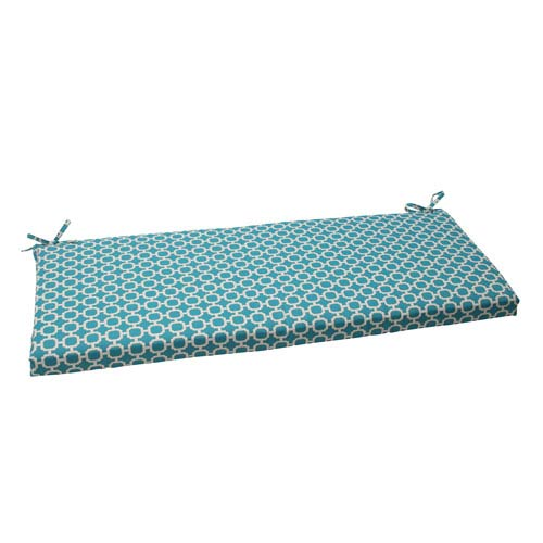Pillow Perfect Outdoor Hockley Bench Cushion in Teal