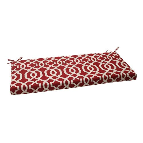 Pillow Perfect Outdoor New Geo Bench Cushion in Red