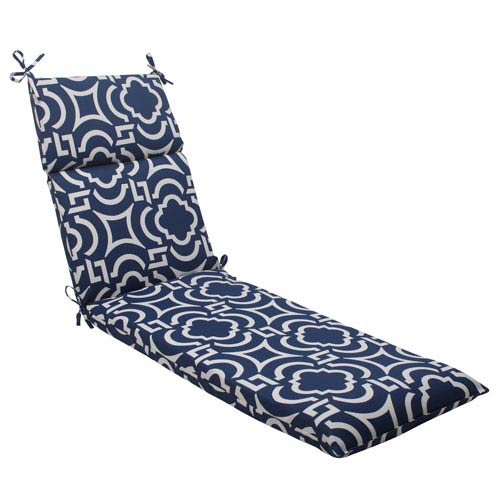 Pillow Perfect Outdoor Carmody Chaise Lounge Cushion in Navy