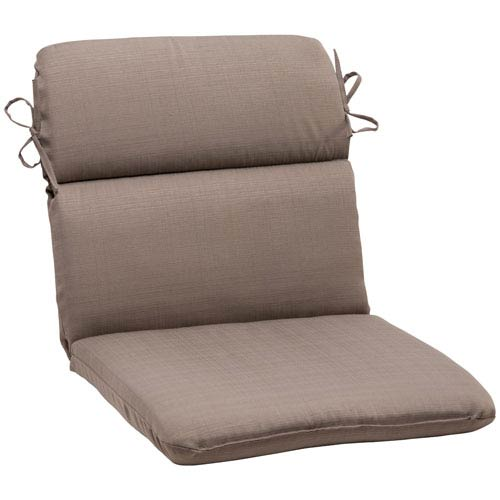 Outdoor Forsyth Rounded Chair Cushion in Taupe