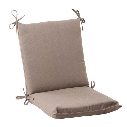 Pillow Perfect Outdoor Forsyth Squared Chair Cushion in Taupe