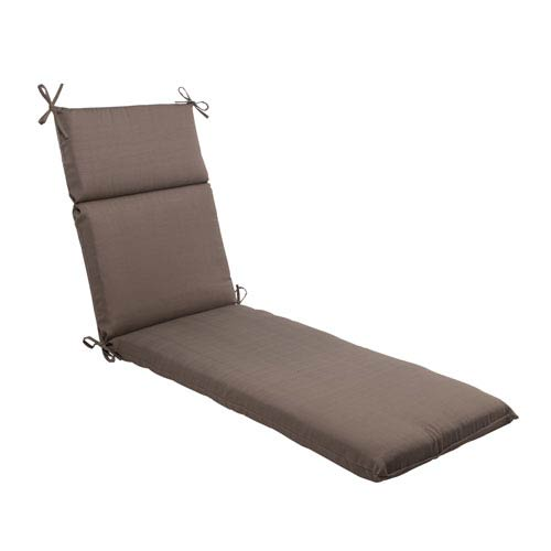Pillow Perfect Outdoor Forsyth Chaise Lounge Cushion in Taupe