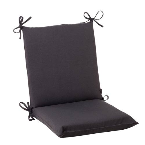 Outdoor Fresco Squared Chair Cushion in Black