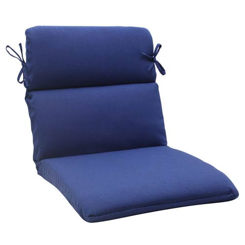 Pillow Perfect Outdoor Fresco Rounded Chair Cushion in Navy