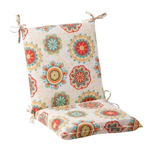 Pillow Perfect Outdoor Fairington Squared Chair Cushion in Aqua