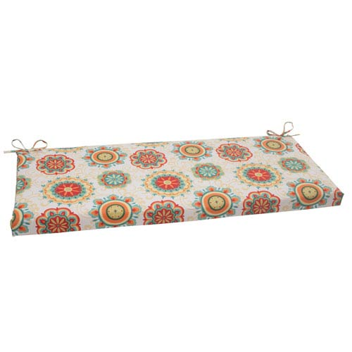Pillow Perfect Outdoor Fairington Bench Cushion in Aqua