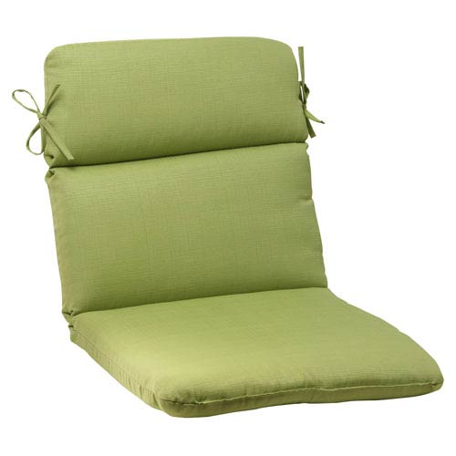 Pillow Perfect Outdoor Forsyth Rounded Chair Cushion in Green
