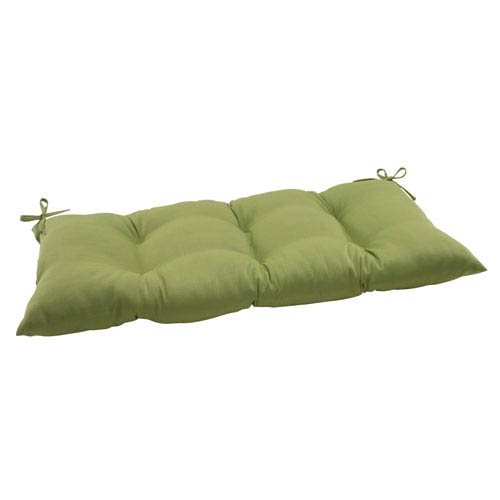 Outdoor Forsyth Tufted Loveseat Cushion in Green