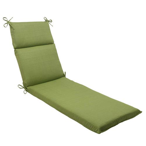 Pillow Perfect Outdoor Forsyth Chaise Lounge Cushion in Green