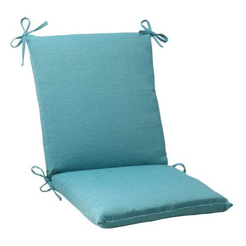 Pillow Perfect Outdoor Forsyth Squared Chair Cushion in Turquoise