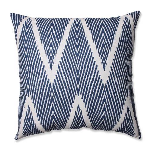 Pillow Perfect Bali Blue White Throw Pillow 512273 Bellacor