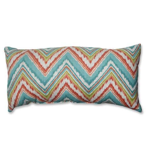 Pillow Perfect Chevron Cherade Bolster Throw Pillow