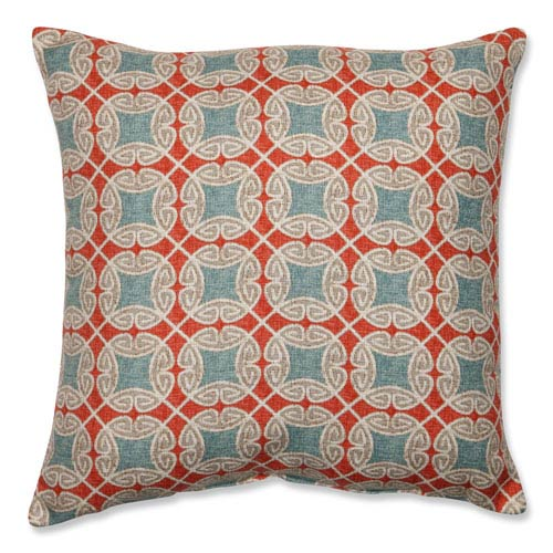 Pillow Perfect Ferrow Blue and Red 18-Inch Throw Pillow