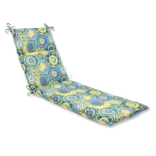Pillow Perfect Outdoor / Indoor Omnia Lagoon Chaise Lounge Cushion