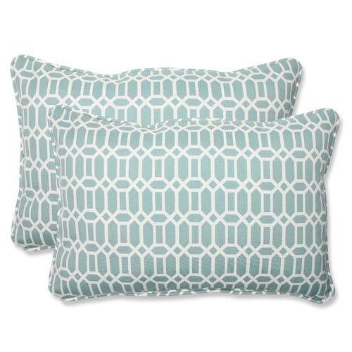 Blue Outdoor Rhodes Quartz Over-sized Rectangular Throw Pillow, Set of 2