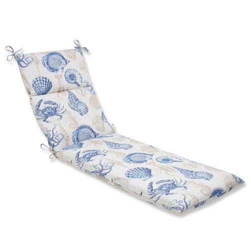 Outdoor / Indoor Sealife Marine Chaise Lounge Cushion
