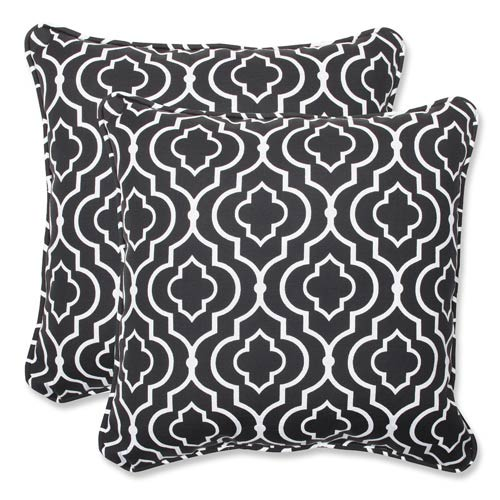 Pillow Perfect Black Outdoor Starlet Night 18.5-inch Throw Pillow, Set of 2