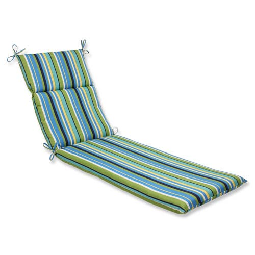 Outdoor / Indoor Topanga Stripe Lagoon Chaise Lounge Cushion