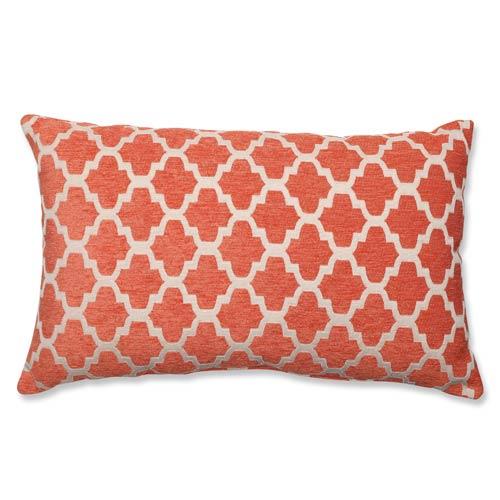 Keaton Santa Fe Orange and Off-White Rectangular Throw Pillow