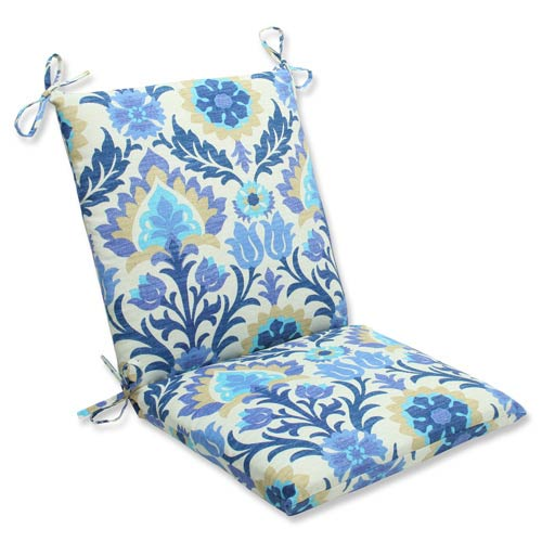 Pillow Perfect Blue Outdoor Santa Maria Azure Squared Corners Chair Cushion