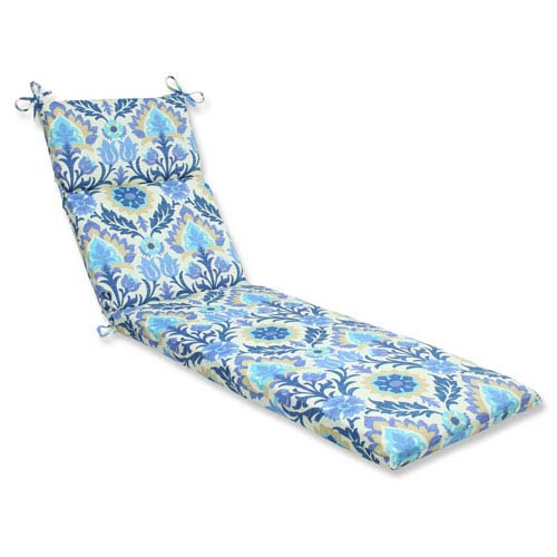 Outdoor / Indoor Santa Maria Azure Chaise Lounge Cushion