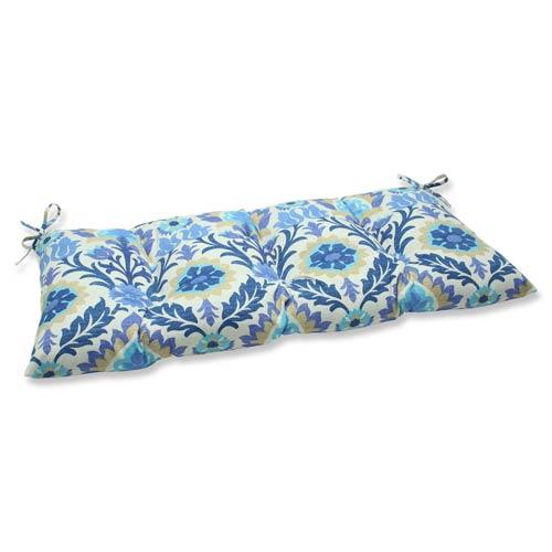 Pillow Perfect Blue Outdoor Santa Maria Azure Wrought Iron Loveseat Cushion