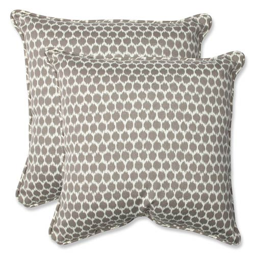 Brown Outdoor Seeing Spots Sterling 18.5-inch Throw Pillow, Set of 2