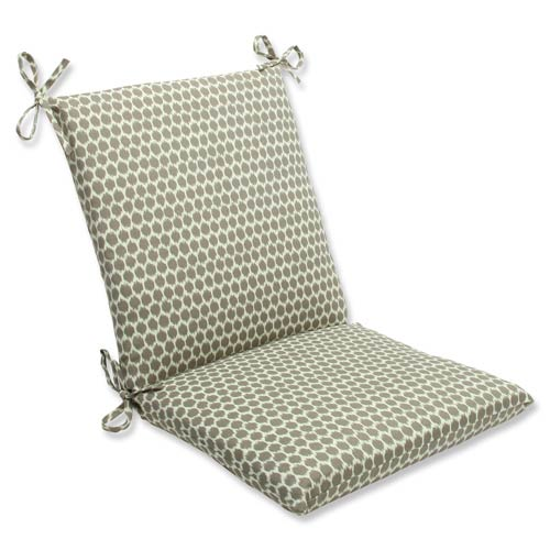 Pillow Perfect Brown Outdoor Seeing Spots Sterling Squared Corners Chair Cushion