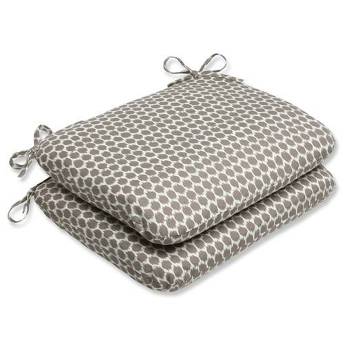 Pillow Perfect Brown Outdoor Seeing Spots Sterling Rounded Corners Seat Cushion, Set of 2