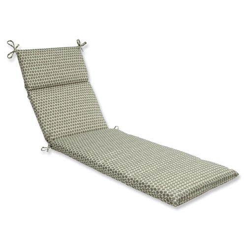 Pillow Perfect Outdoor / Indoor Seeing Spots Sterling Chaise Lounge Cushion