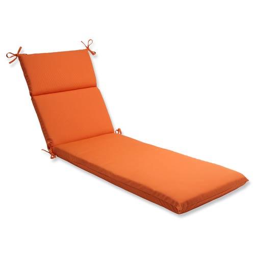 Canvas Orange Chaise Lounge Cushion with Sunbrella Fabric