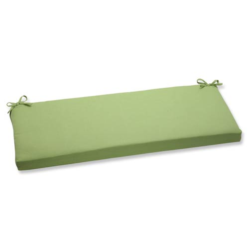 Pillow Perfect Canvas Green Bench Cushion with Sunbrella Fabric