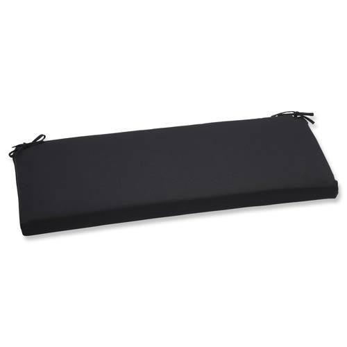 Canvas Black Bench Cushion with Sunbrella Fabric