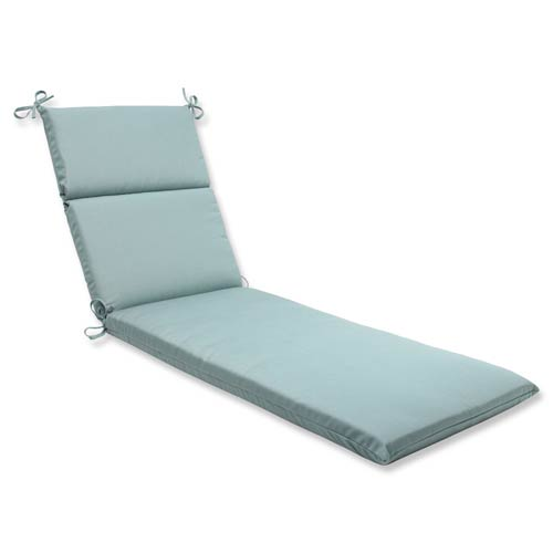 Canvas Blue Chaise Lounge Cushion with Sunbrella Fabric